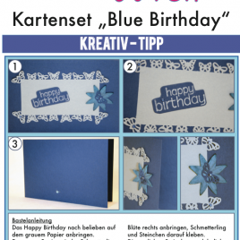 "Karte ""Blue Birthday"""